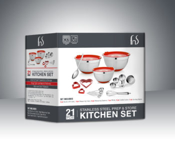 Dubai 21 Pcs Kitchen Set Packaging